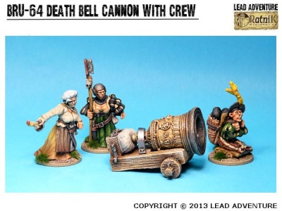 """Cannon """"Death Bell"""" with Crew"""