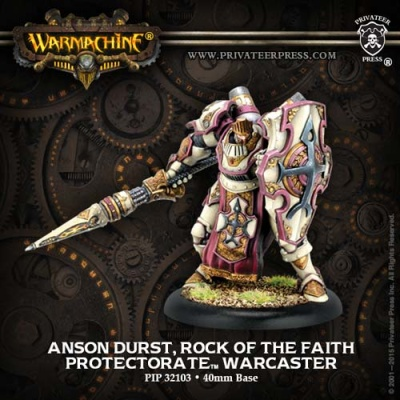 Protectorate Warcaster Anson Durst Rock of the Faith