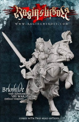 Brunhilde with Shield on War Steed (1)
