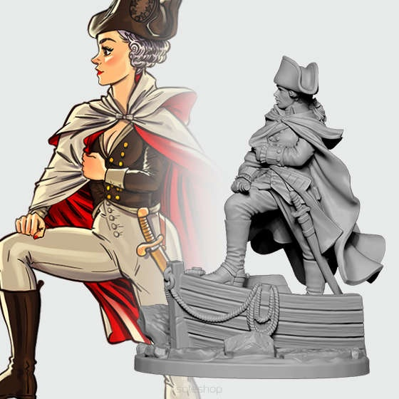 Georgette the General (54mm)