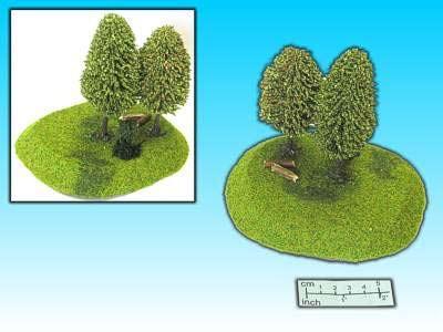 Hügel 2 mit Bäumen