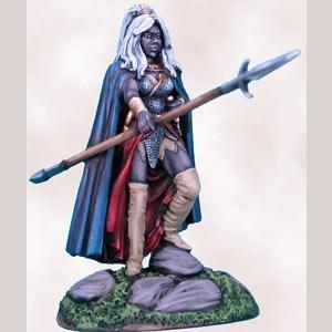 Female Dark Elf Fighter with Pike