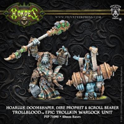 Trollblood Epic Warlock Hoarluk Doomshaper, Dire Prophet
