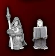 Halfling Wizard and Acolyte (2)