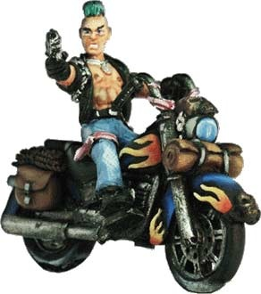 Punk auf Motorrad (1+1)