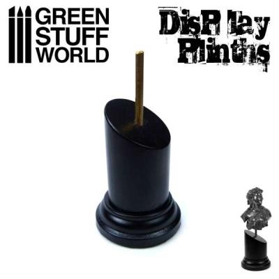 Tapered Round Bust Plinth 3.5x3.5cm Black
