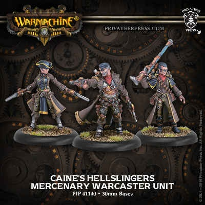 Mercenary Warcaster Unit Caine's Hellslingers