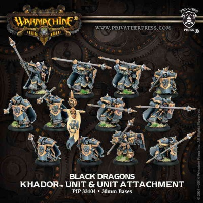 Khador Iron Fang Pikemen/Black Dragons Unit Box (10)
