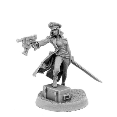 Female Commissar with Gun