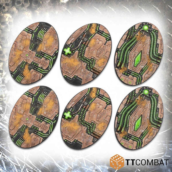 90mm Tomb World Oval Bases (6)