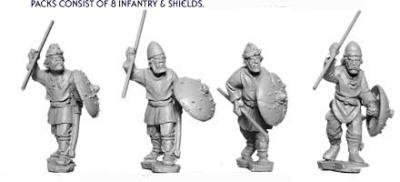Unarmoured Spearmen Advancing (10)