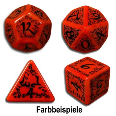 Red & Black Elvish Dice (7)