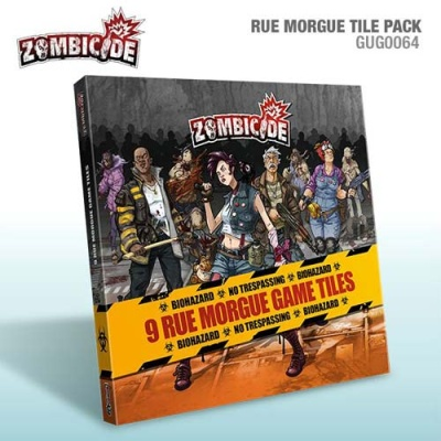 Zombicide Rue Morgue: 9 Double Sided Game Tiles