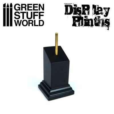 Tapered Bust Plinth 3x3cm Black
