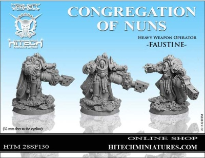 28mm  Nuns Heavy Weapon Operator Faustine