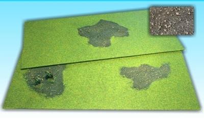 2 Grasflächen ''verbrannte Erde'' 25 x 50 cm