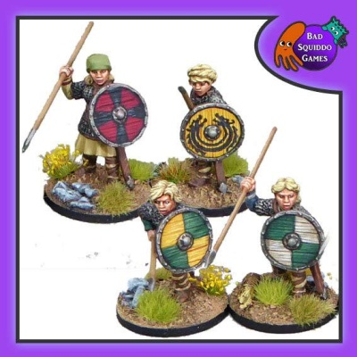 Shieldmaiden Hearthguard with Spears (4)