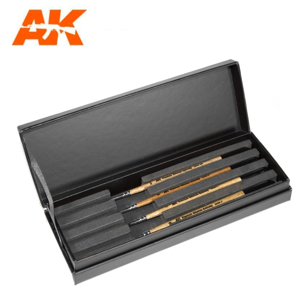 Premium Siberian Kolinsky Brushes Deluxe Case
