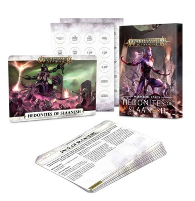 Hedonites of Slaanesh Warscroll-Cards (eng.)