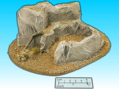 Geländestück Wüstenfels II