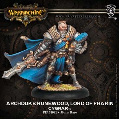 Cygnar Archduke Runewood, Lord of Fharin Solo