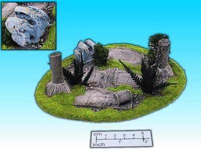 Geländestück zerstörte Kultstätte