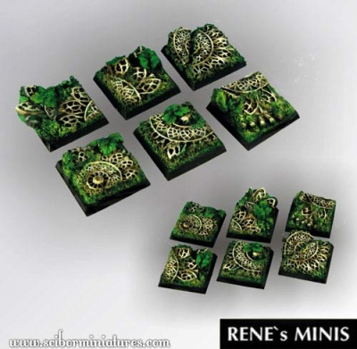 Elven Temple Ruins Square Bases 25mm (5) (OOP)