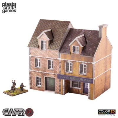 15mm: Semi-detached Building - ColorEd