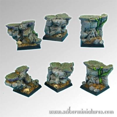 Dwarven Ruins 25mm square bases (3)