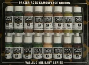 Panzer Aces Set No7 (16 Farben) (Camouflage for Patterns)