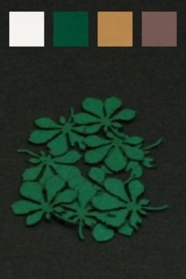 Blätter Kastanie (dunkelbraun)