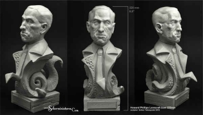 H.P. Lovecraft Bust height 225mm
