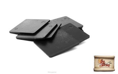 Plastic bases 4x4 cm