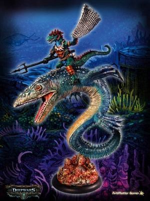 Cthan the ravenous, Commander on Mosasaur