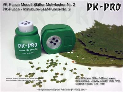 PK-Punch - Modell-Blätter-Motivlocher-Nr. 2 (4xBlätterMix)