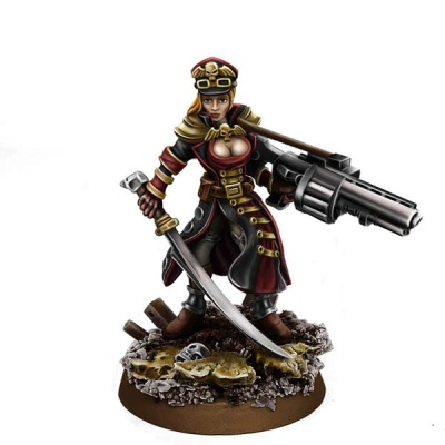 Female Commissar w Grenade Launcher