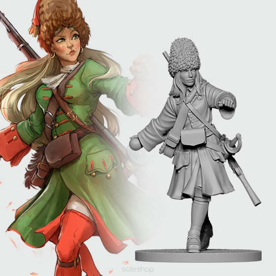 Natasha the Russian Grenadier (54mm)
