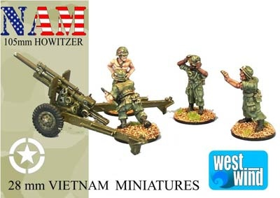 105mm Howitzer and Crew