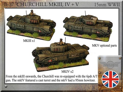 Churchill mkIII, IV+V (3)