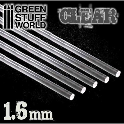 Acrylic Rods - Round 1.6 mm CLEAR (5)