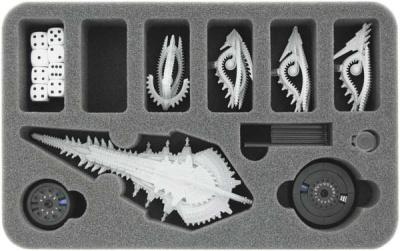 Schaumstoff für Dropfleet Commander- Shaltari Schlachtschiff