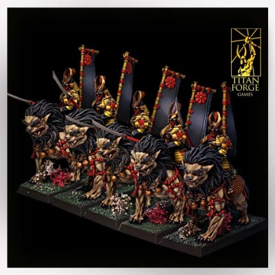 Dragon Empire Komainu Spearmen Cavalry (5)