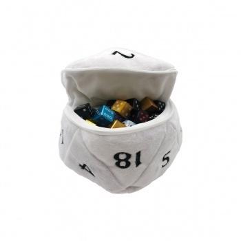 UP - D20 Plush Dice Bag - White
