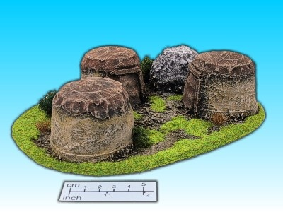 Geländestück kleine Hütten