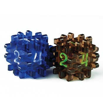 Constructible Dice - Blue & Brown (2)