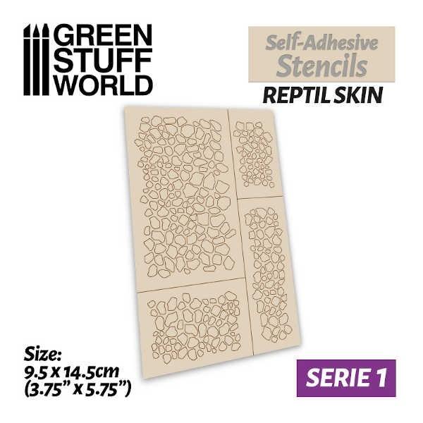Self-adhesive stencils - REPTILE SKIN