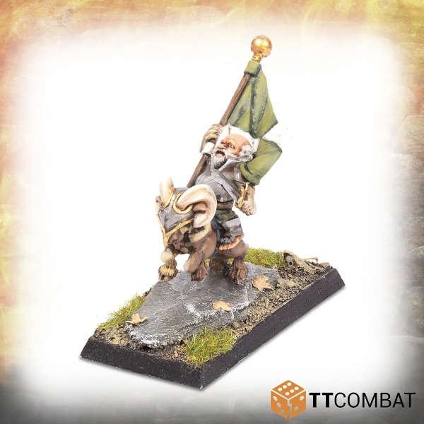 Halfling Goat Rider Battle Standard Bearer