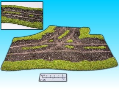 Geländestück Wegkreuzung