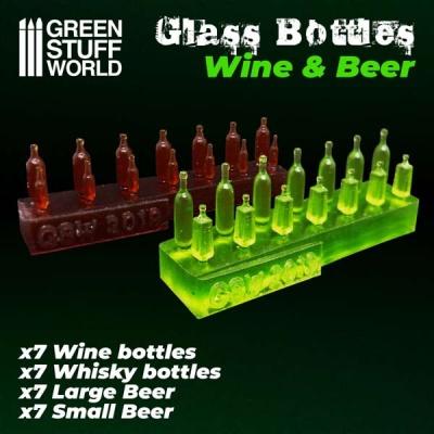 Wine and Beer Bottles Resin Set (28)