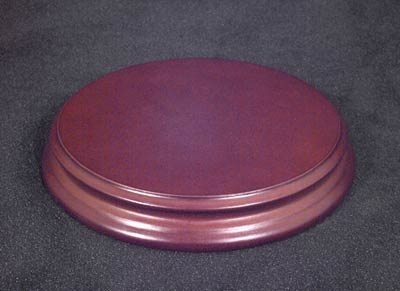Runder Holzsockel (Durchmesser 110 mm)